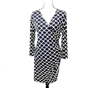 Charming Charlie Faux Wrap V neck Dress